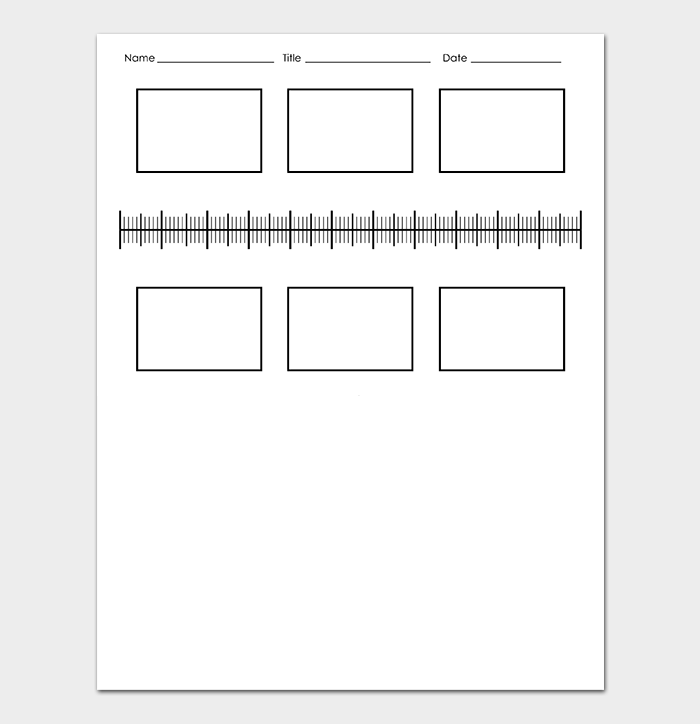 Blank History Timeline Template for Kids