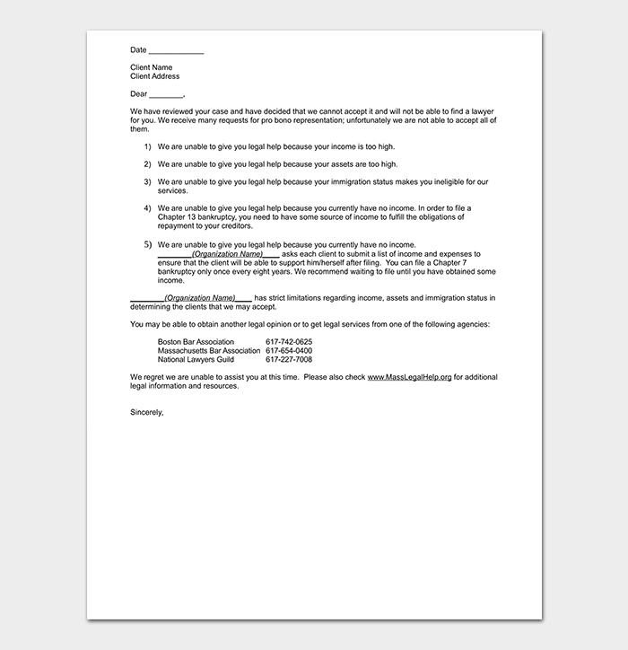 Polite Client Rejection