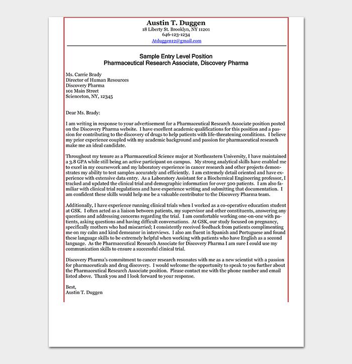 Entry Level Cover Letter PDF