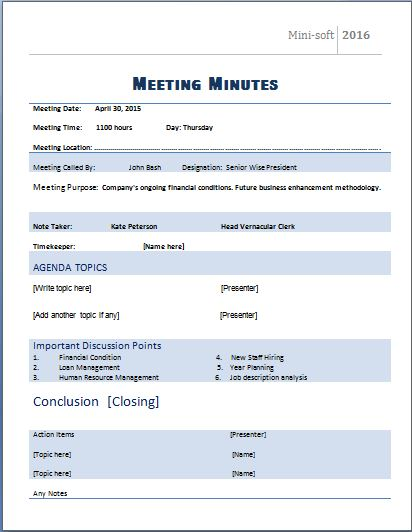 Minutes Template For Meeting http webdesign14 com templates and – Meeting Minutes Word