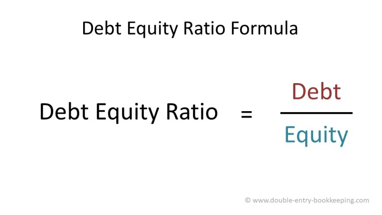Debt Equity Ratio | Double Entry Bookkeeping