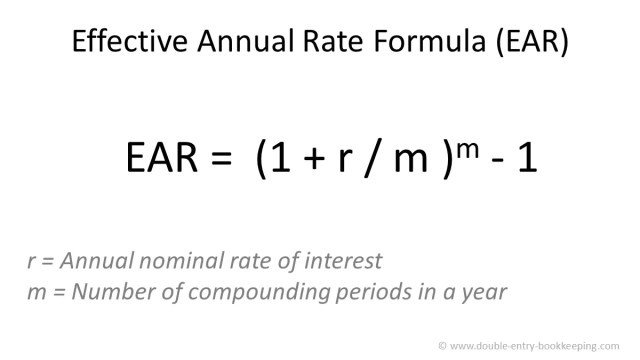 Effective Annual Rate (EAR)  Double Entry Bookkeeping