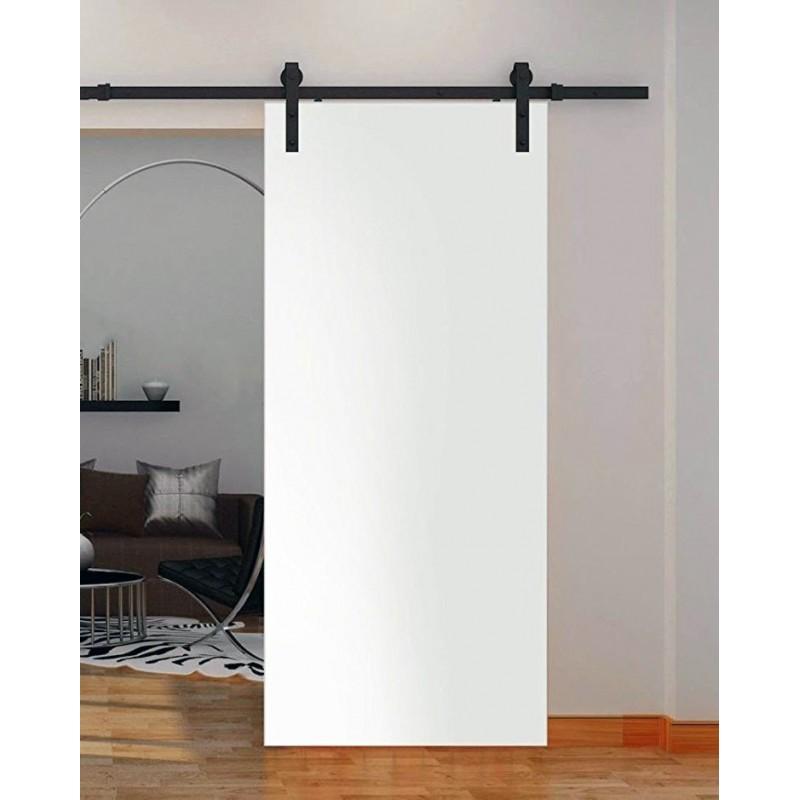 Flush Solid Wood Barn Door Paint Grade Wood Designer Series Sliding Barn Doors By Www Doubledw