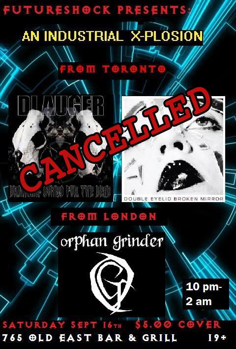London Ontario gig cancelled