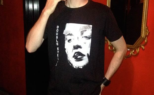 Brad models a Double Eyelid t-shirt