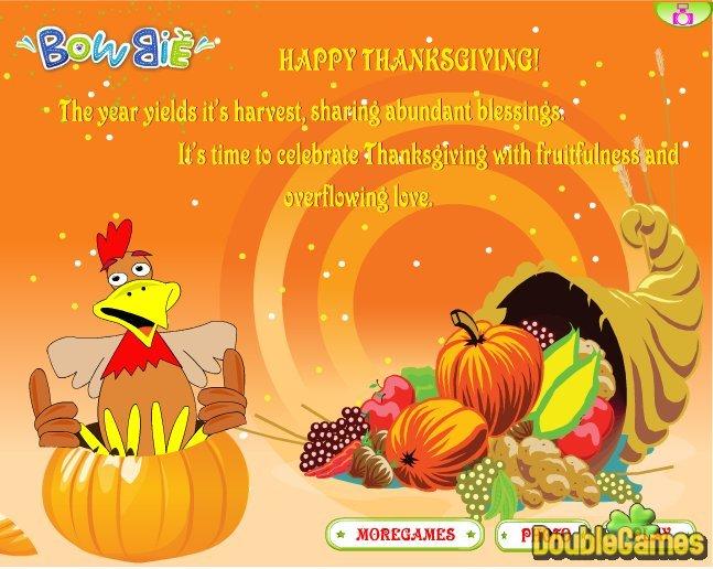 bezpłatne pobieranie thanksgiving day 2010 zrzutu ekranu 1