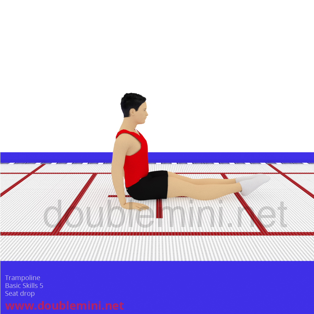 Trampoline Gymnastics basic skills swivel hips progression