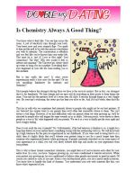 Is Chemistry Always A Good Thing?
