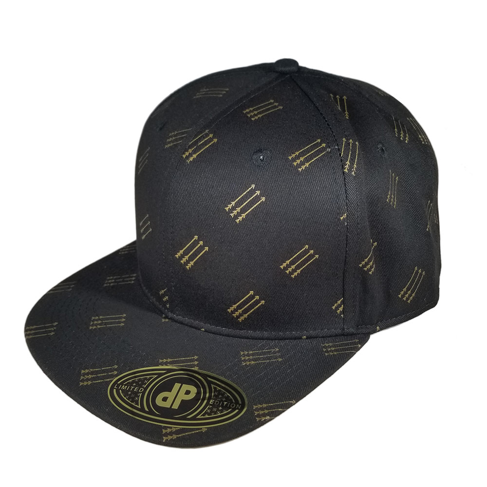Golden-Arrows-Black-Snapback-Flatbill-Hat-Cap