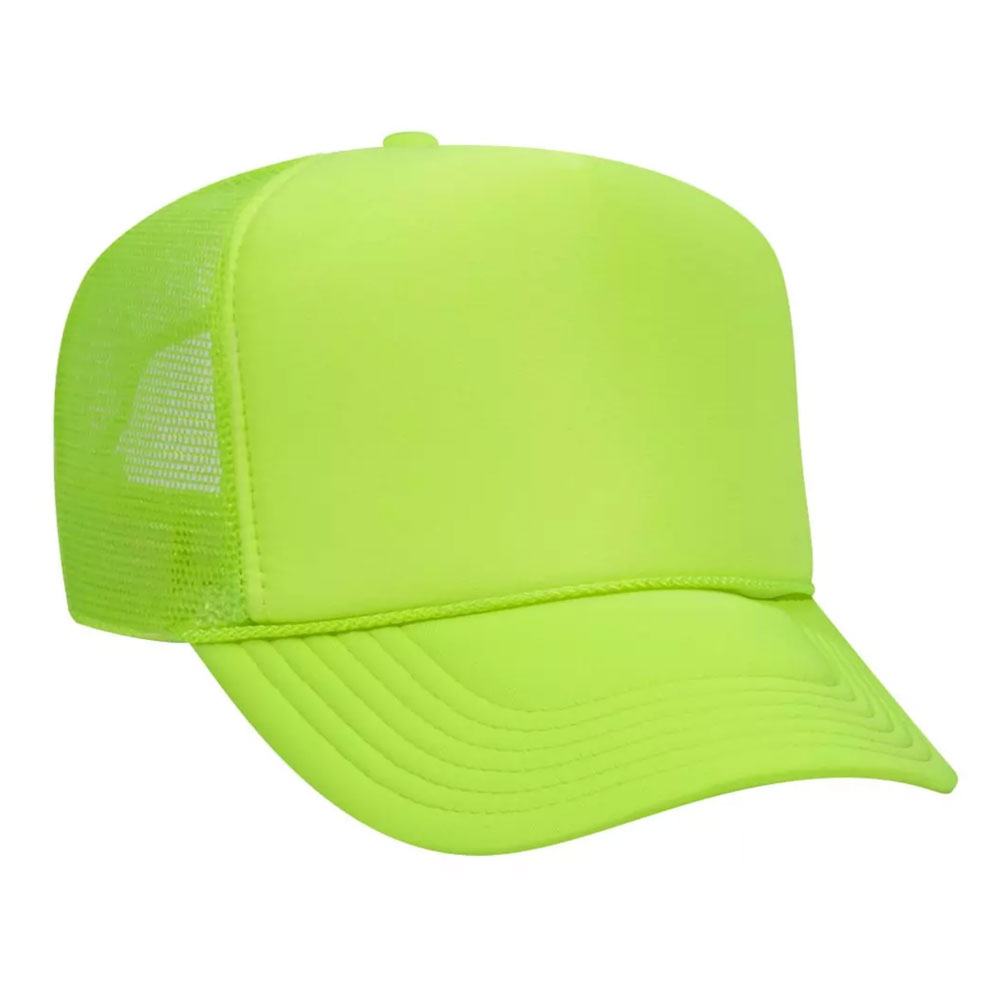 NeonGreenMeshBackFoamTrucker