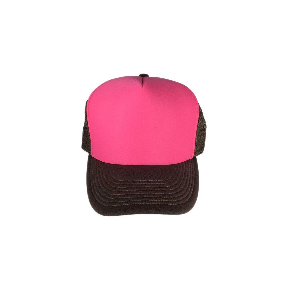 Hot-Pink-Brown-Mesh-Foam-Trucker-Hat
