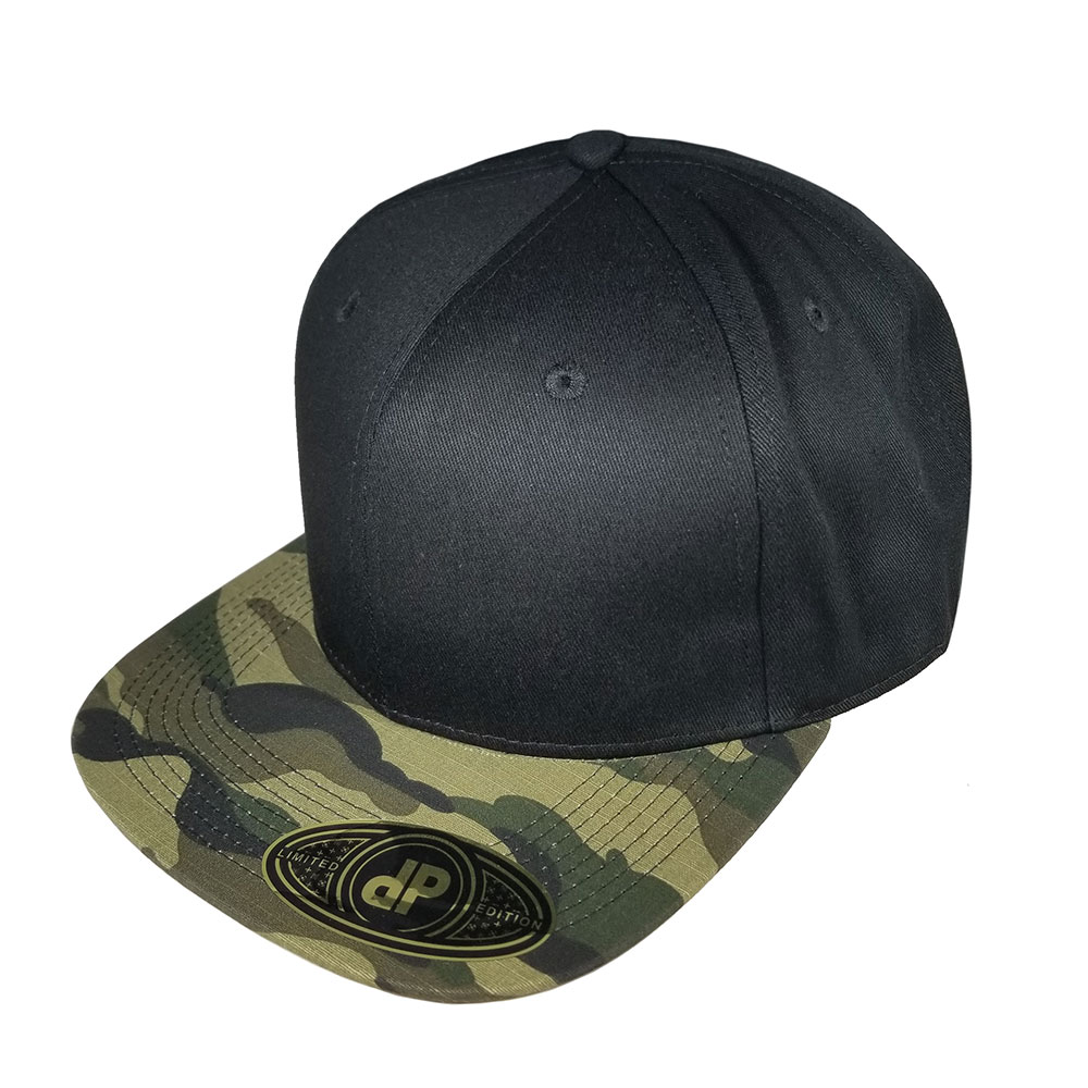 Black-Camo-Bill-Flatbill-Snapback-Hat