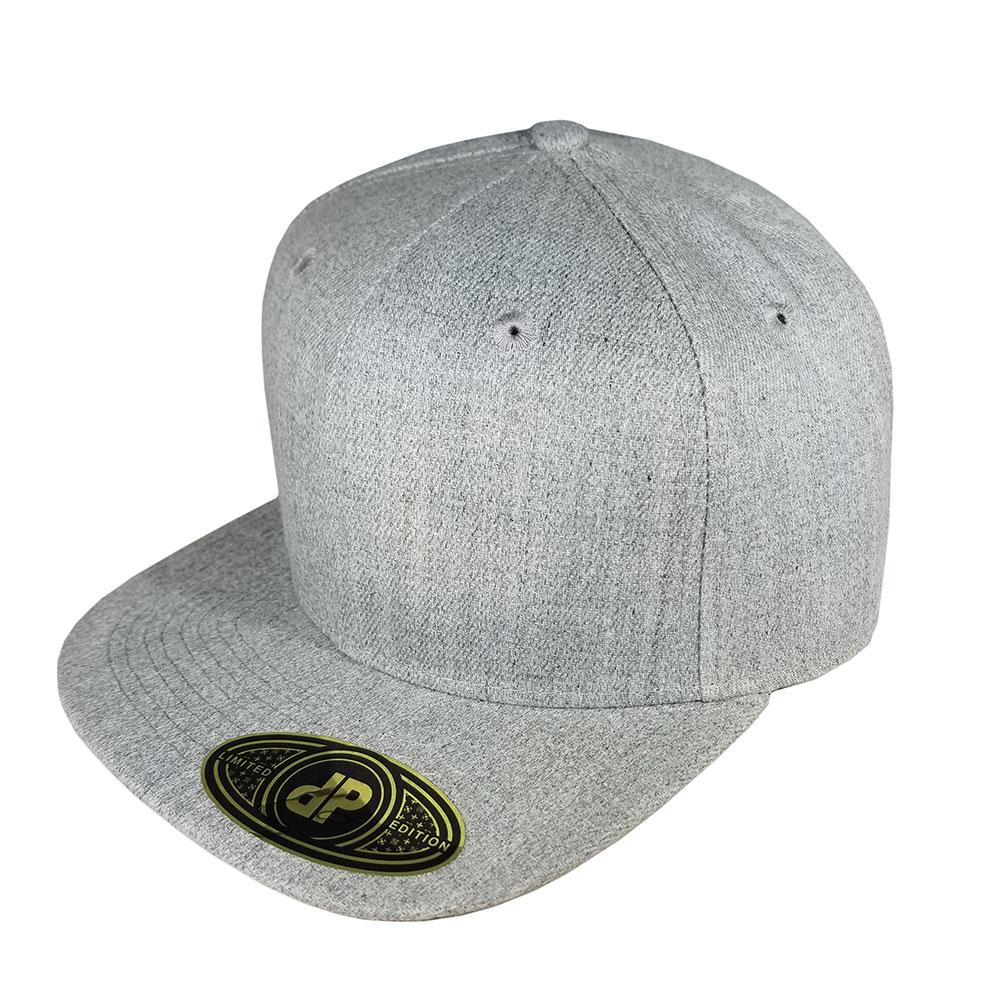 Solid-Heather-Flatbill-Snapback-Hat