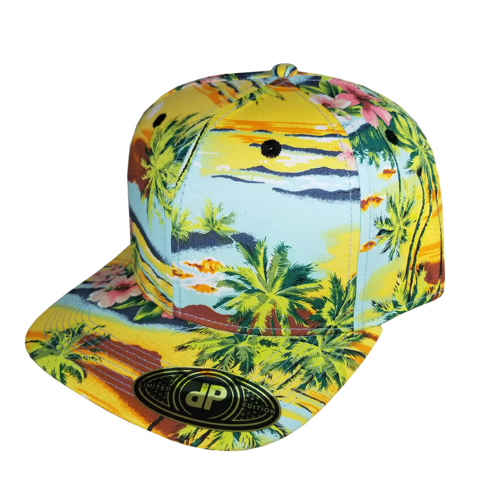 Yellow-Floral-Snapback-Hat