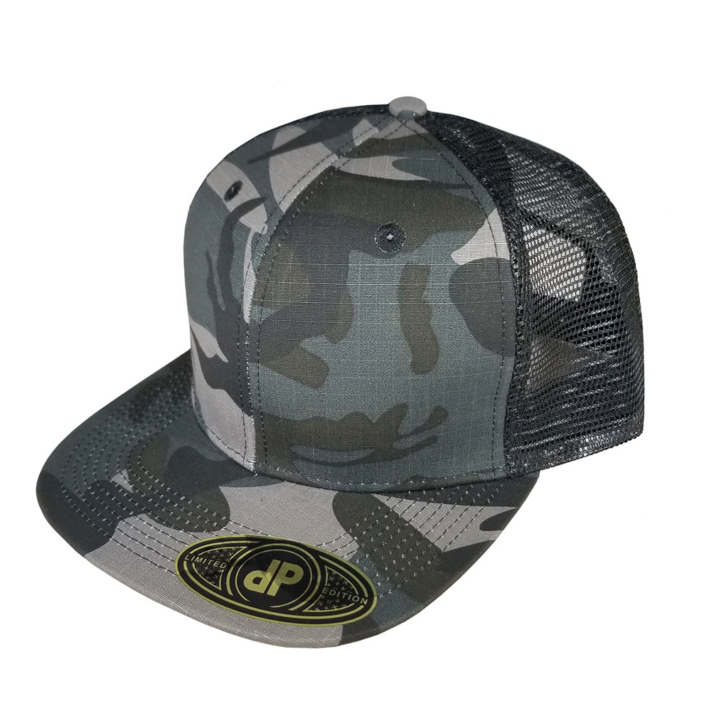 73494c0a8cef1 Blank Hat Snapback Flatbill  Gray Camo   Black Mesh