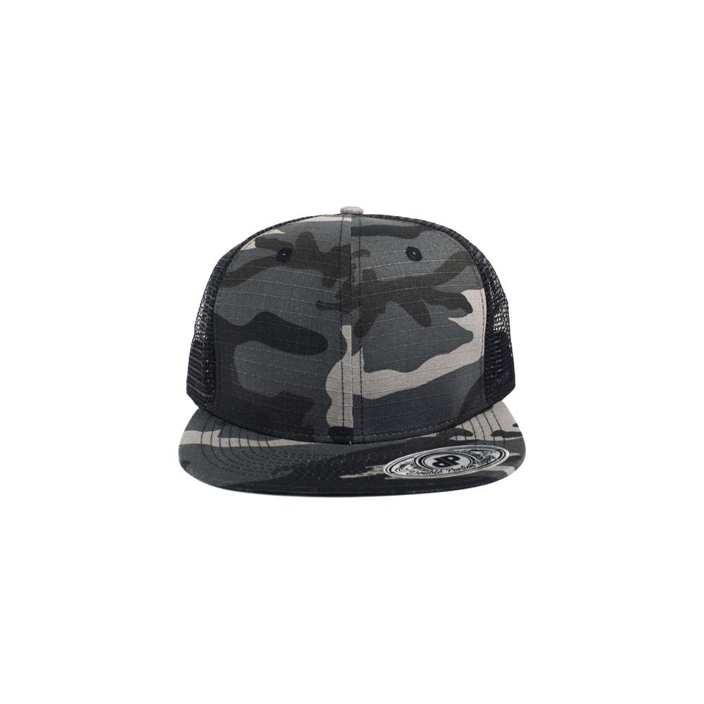 Blank Hat  Gray Camo   Black Mesh Flatbill Snapback – Double Portion ... a6a0b154d37