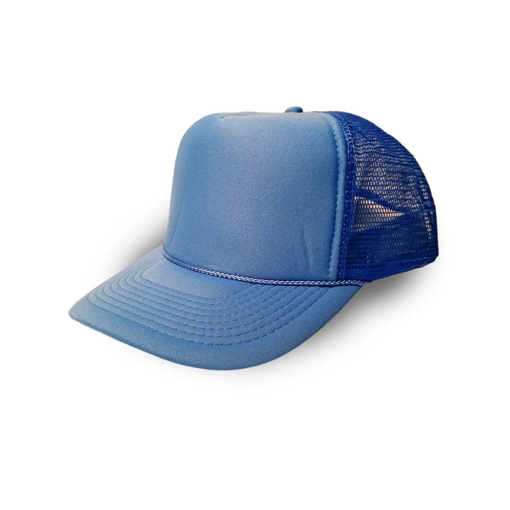 9e929c853fbb5 Blank Hat  Solid Baby Blue Foam Trucker (Large Adult Size)
