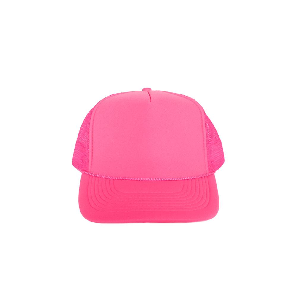 Solid-Neon-Pink-Foam-Trucker