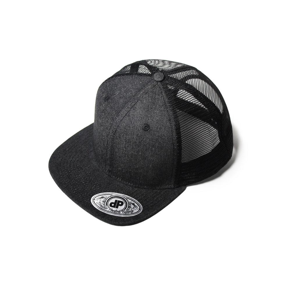 2d40265e7dd Home   All Hats   Snapbacks   Mesh Snapbacks   Blank Hat Snapback Flatbill   Black Denim   Black Mesh
