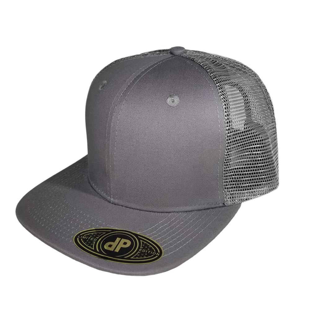 Gray-Grey-Mesh-Snapback-Hat