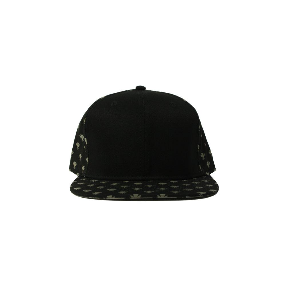 168f946009b11 Blank Hat Snapback Flatbill  Black   Gray Kahili