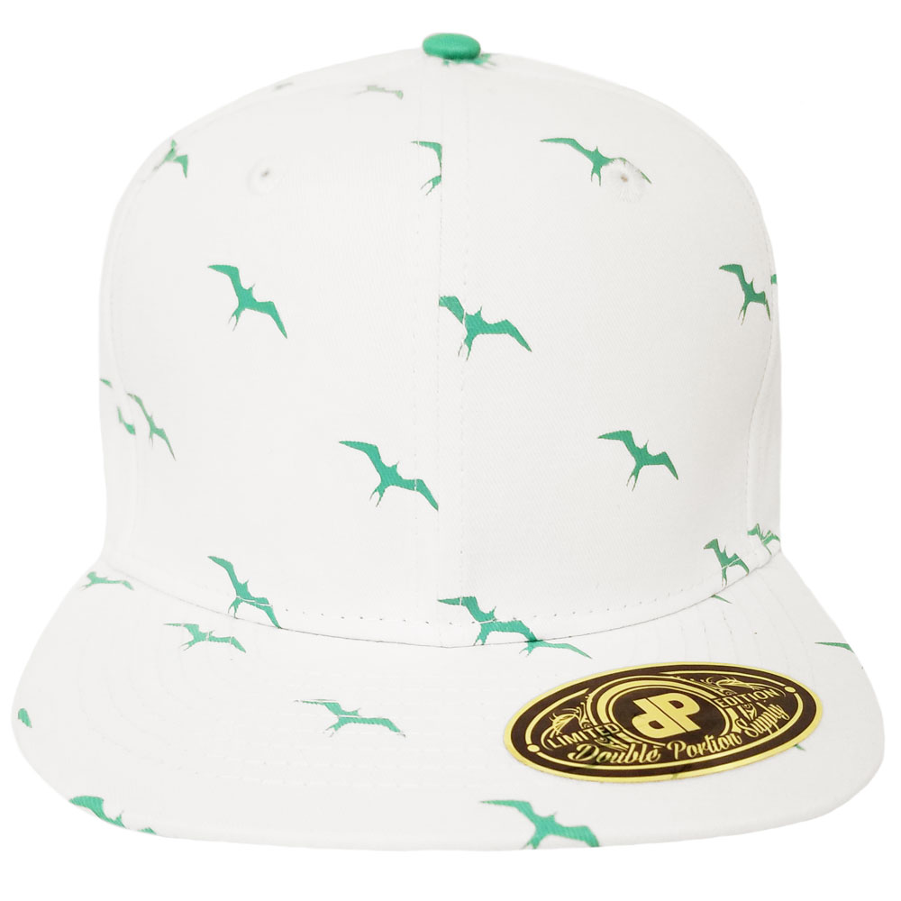 Iwa-Bird-White-Mint-Snapback-Hat
