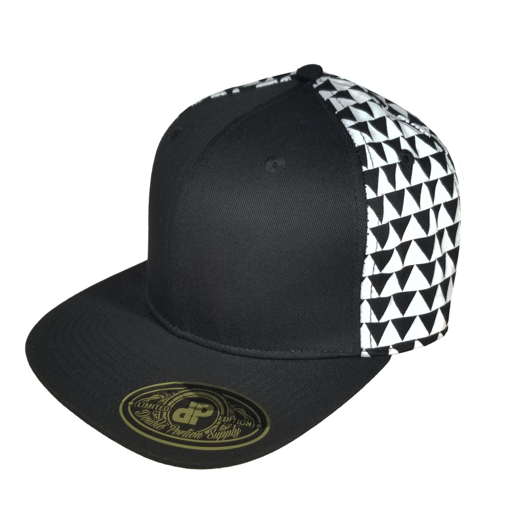 Triangles-White-Snapback-Hat
