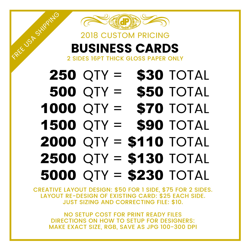 Custom Business Cards – Double Portion Supply