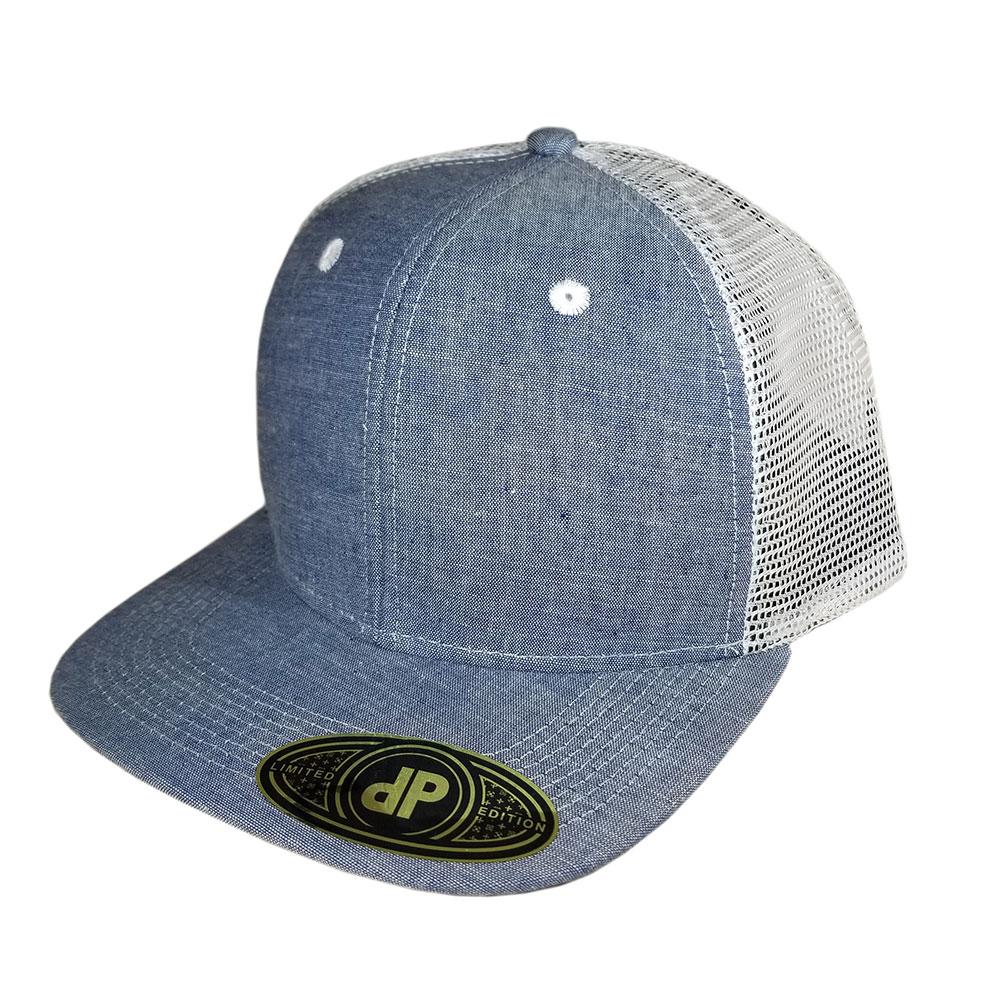 Baby-Denim-Blue-Mesh-Flatbill-Snapback-Hat