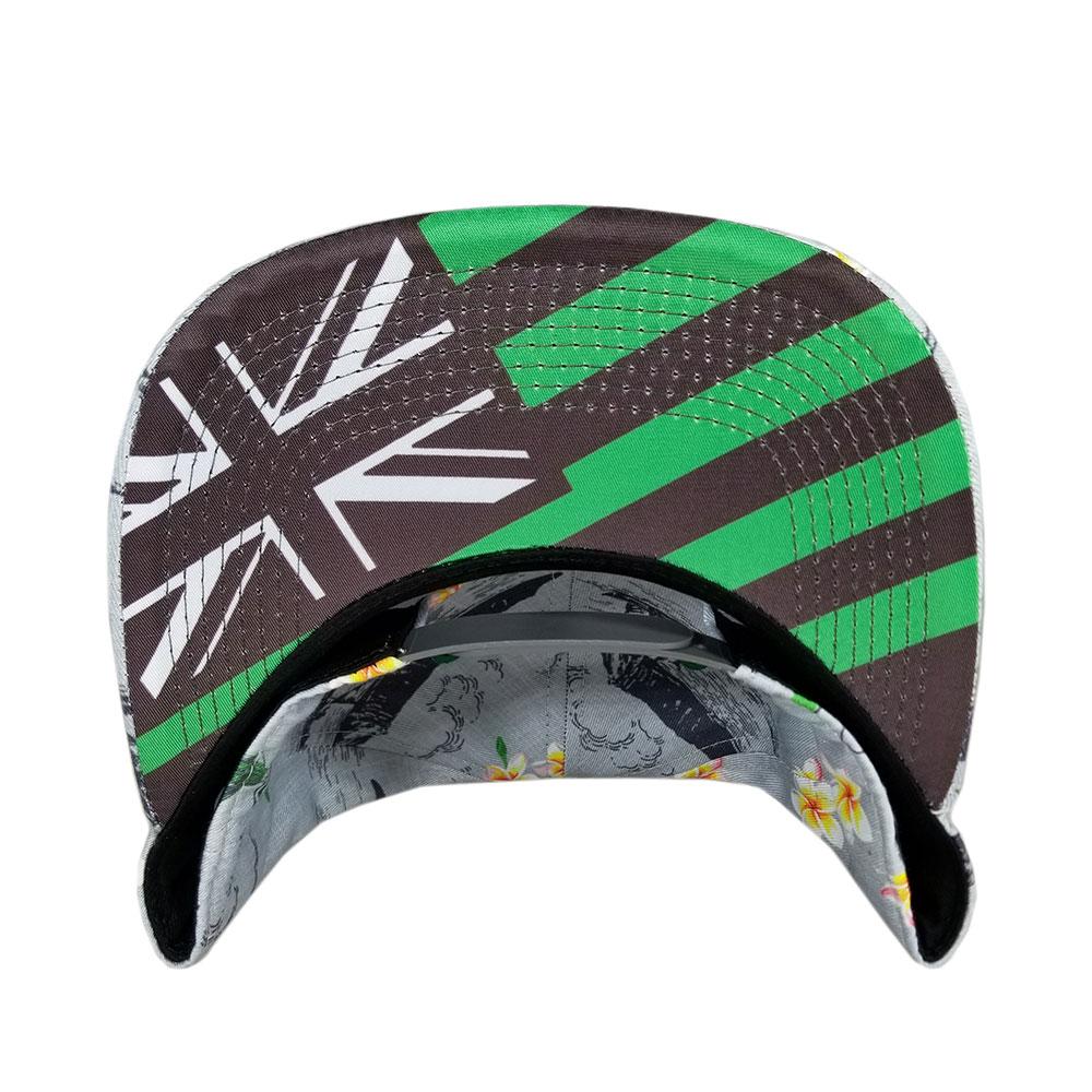 Gray-Kelly-Green-Oahu-Golf-Snapback-Flatbill-Hat-bill