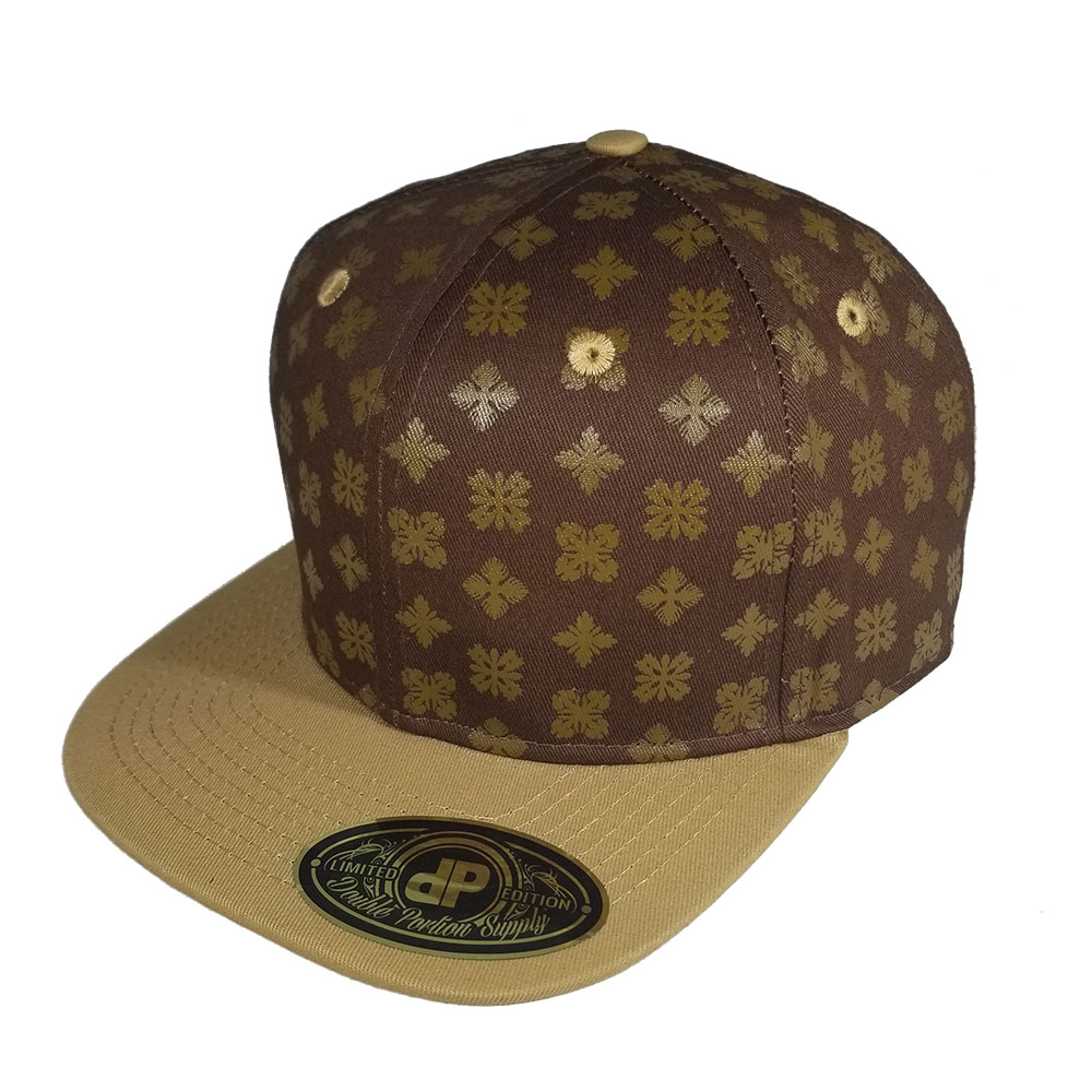 Quilt-Brown-Tan-Snapback