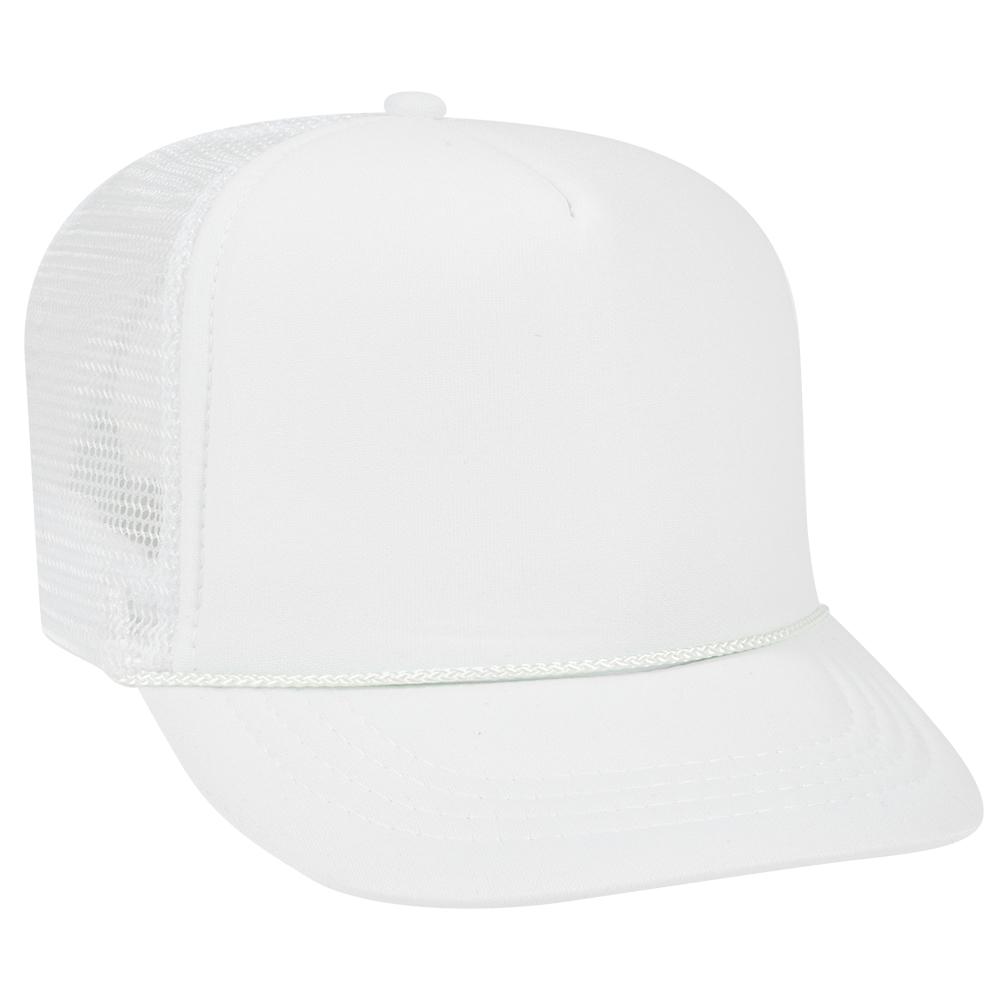 Blank Hat  SMALL YOUTH White Foam Trucker 3762a76783d4
