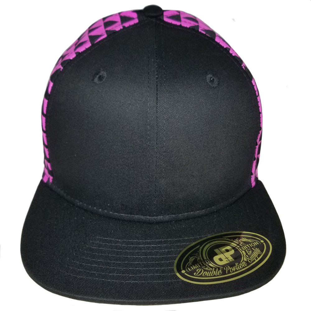 Pink-Black-Triangles-Flatbill-Snapback