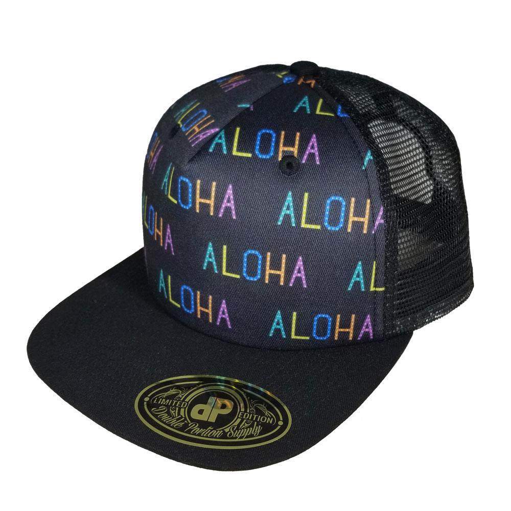 448e7b671bd67 Blank Hat Snapback Flatbill  Aloha Pattern Mesh