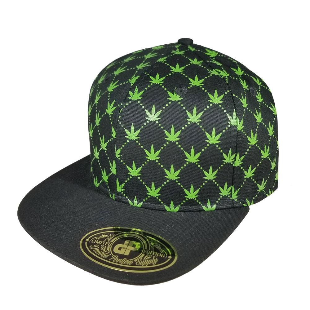 Pot-Leaf-Marijucci-Marijuana-Flatbill-Snapback-Hat