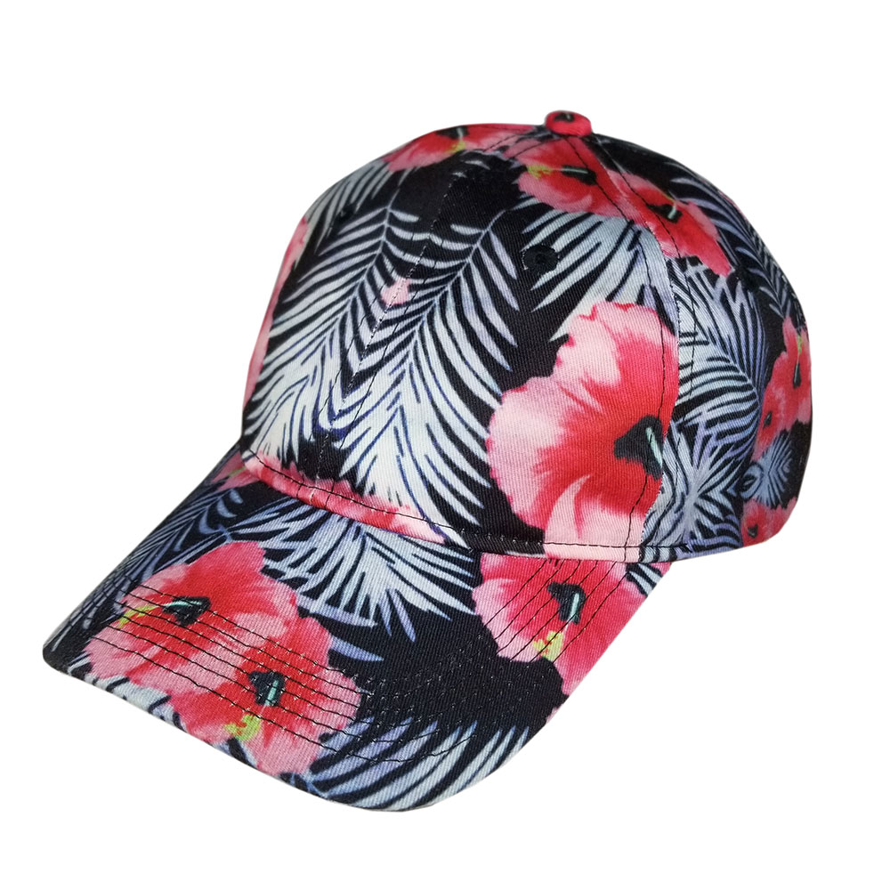Full-Red-Hibiscus-Floral-Dad-Hat-Low-Profile