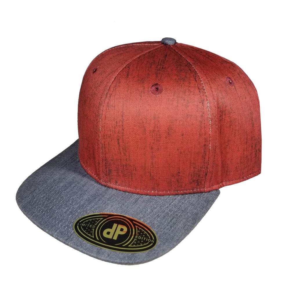 e4db3c24c62 Blank Hat Snapback Flatbill  Red Denim   Gray Denim Bill