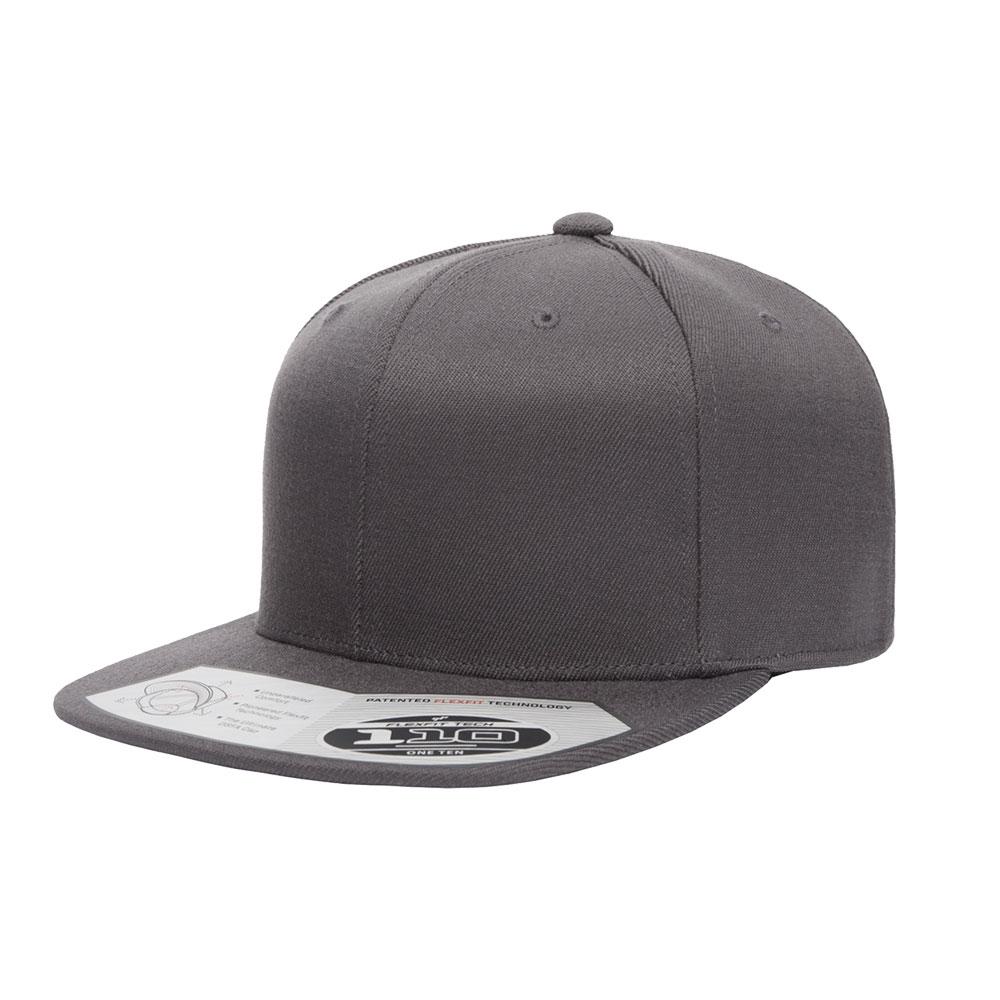 Flexfit-110F-Flatbill-Snapback-Dark-Gray-Grey-Hat