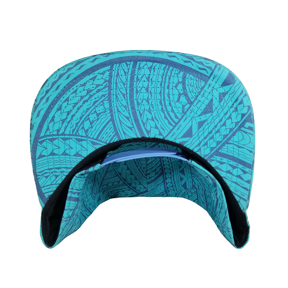 Tribal-Blue-Mint-Royal-Snapback-Flatbill-Hat-Cap-BILL
