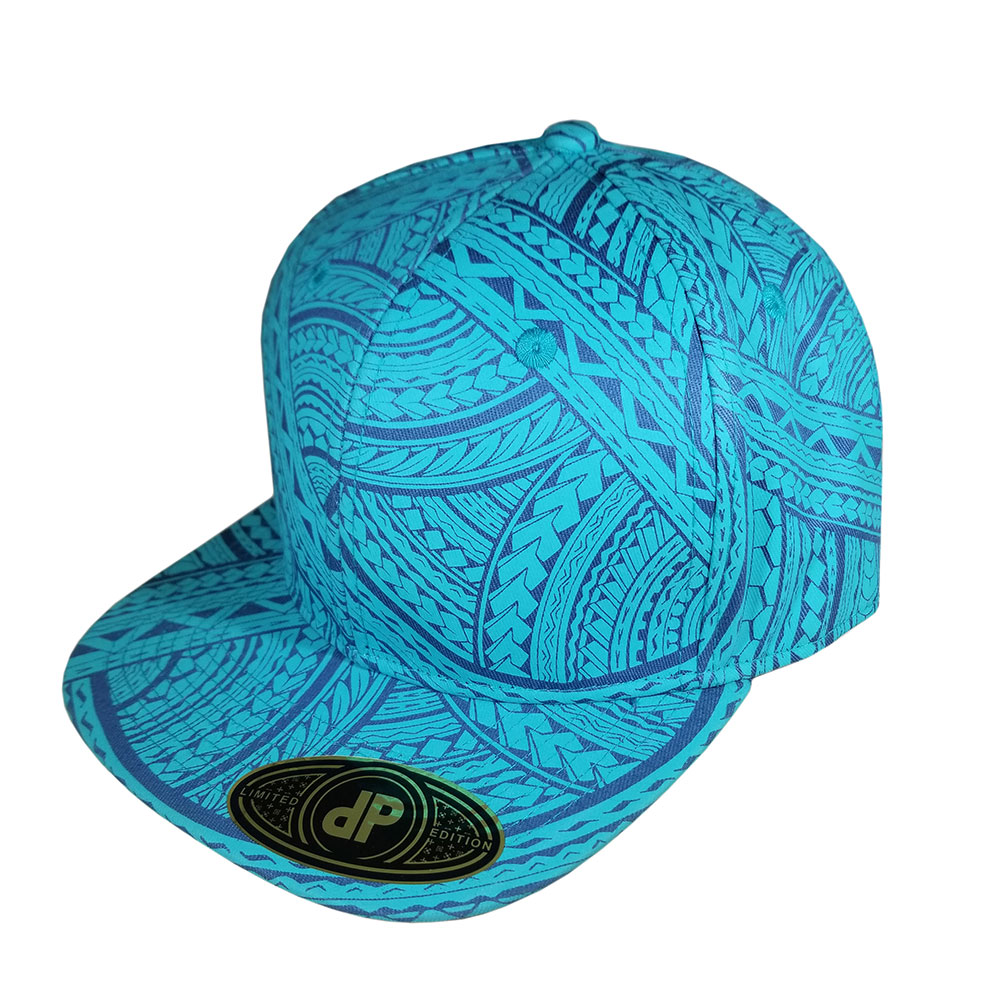 Tribal-Blue-Mint-Royal-Snapback-Flatbill-Hat-Cap