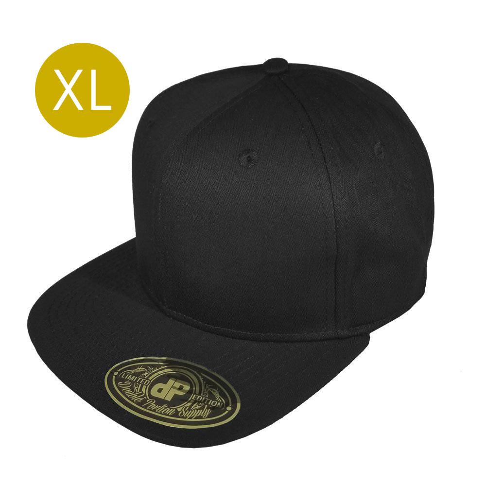 Solid-Black-Snapback-Hat-60cm