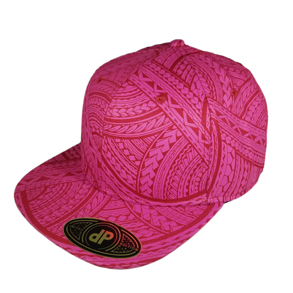 red-pink-tribal-snapback-flat-bill