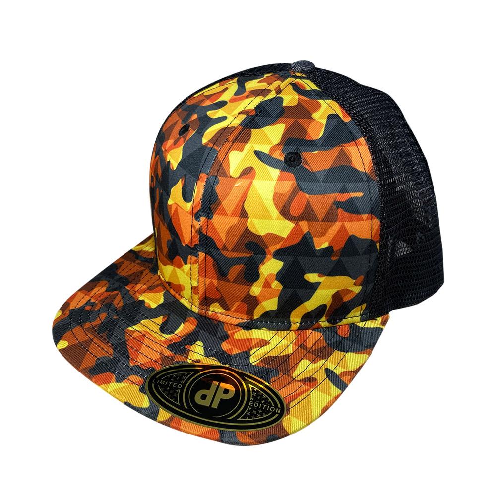 snapback-flat-bill-orange-urban-camo-triangle-mesh