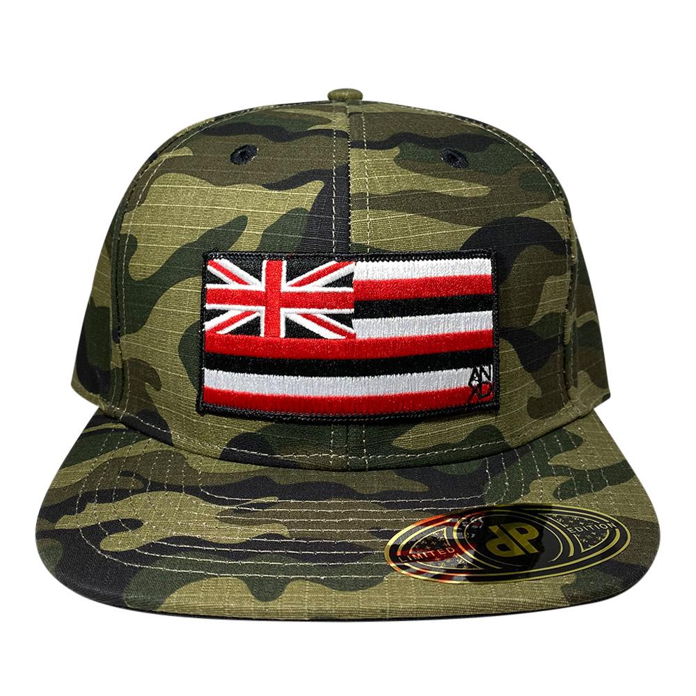 snapback-woodland-camo-hawaiian-flag-patch