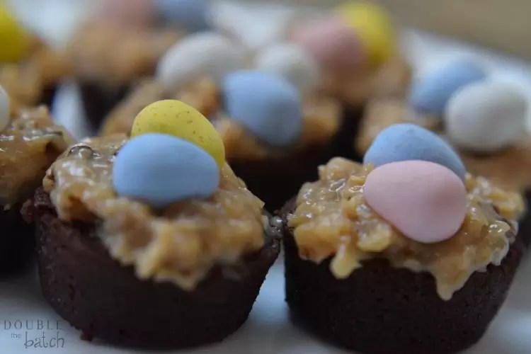 Mini Chocolate Easter Nests From Double the Batch