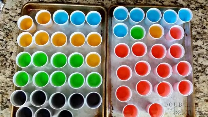 rainbow ice towers