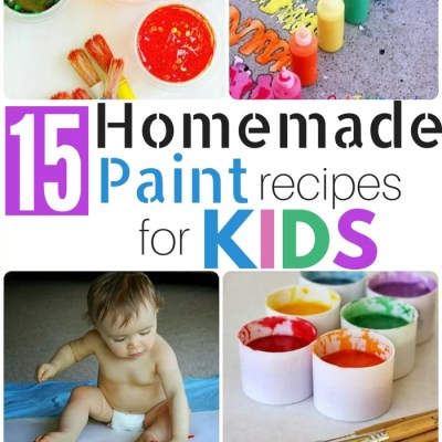 15 Homemade Paint Recipes for KIDS