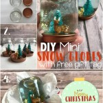 DIY Mini Snow Globes With Printable Gift Tag