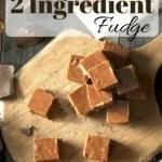 Super Easy Two Ingredient Fudge