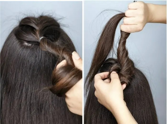 half Braided hair tutorial